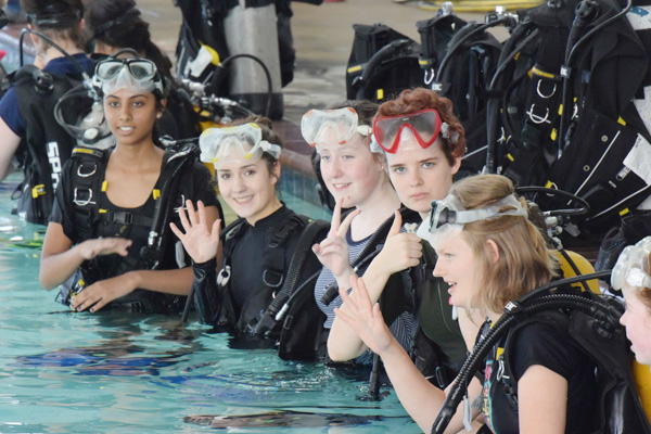 Train like an astronaut with scuba diving training
