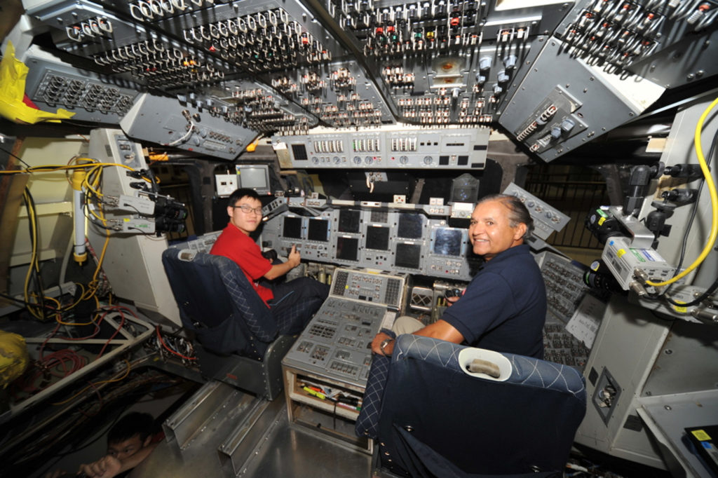 In the pilot's seat of a real Space Shuttle, NASA