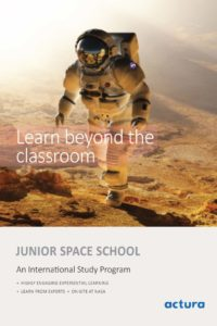 Brochure, Junior Program: features, outline, and the learning outcome.