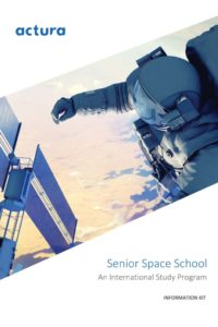 Information Kit, Senior: About the organisation and space school, locations, leading institutions, program itinerary, safety and support, code of conduct, and FAQ.